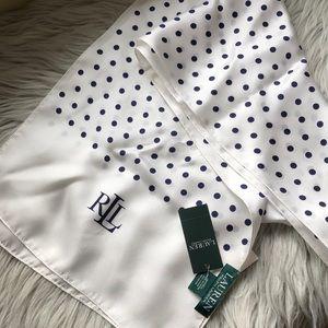 NWT 100% silk polka dot Anais scarf